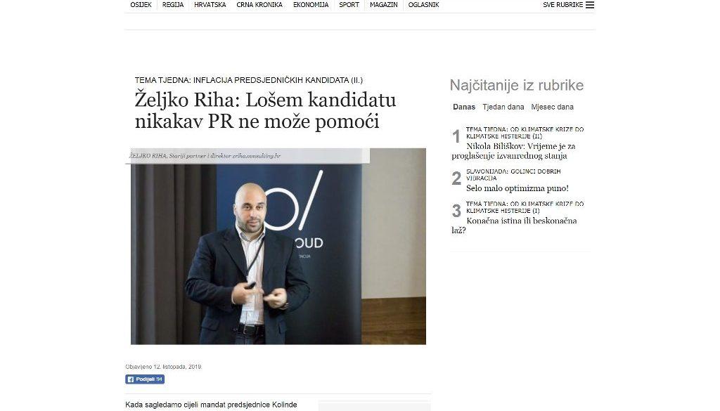 eljko Riha Glas Slavonije