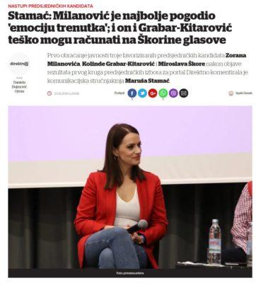 Maruša Stamać Milanović je najbolje pogodio emociju trenutka