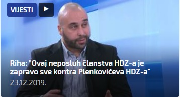 Riha neposluh članstva HDZ a