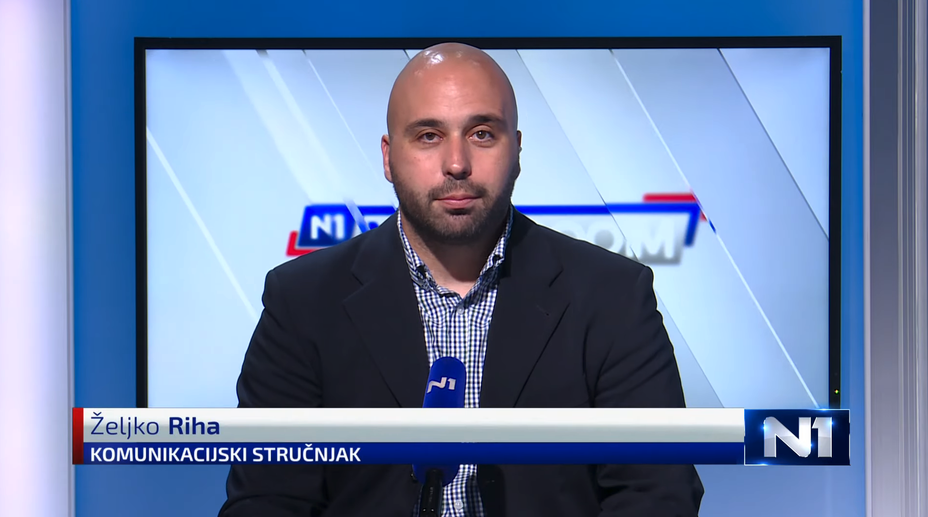 Zeljko Riha on N1 Television